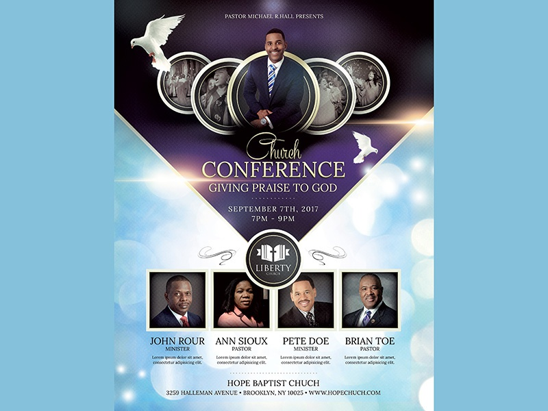 church conference flyer by madridnyc dribbble dribbble