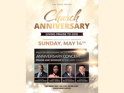 Church Anniversary Flyer Pics By Madridnyc  Dribbble