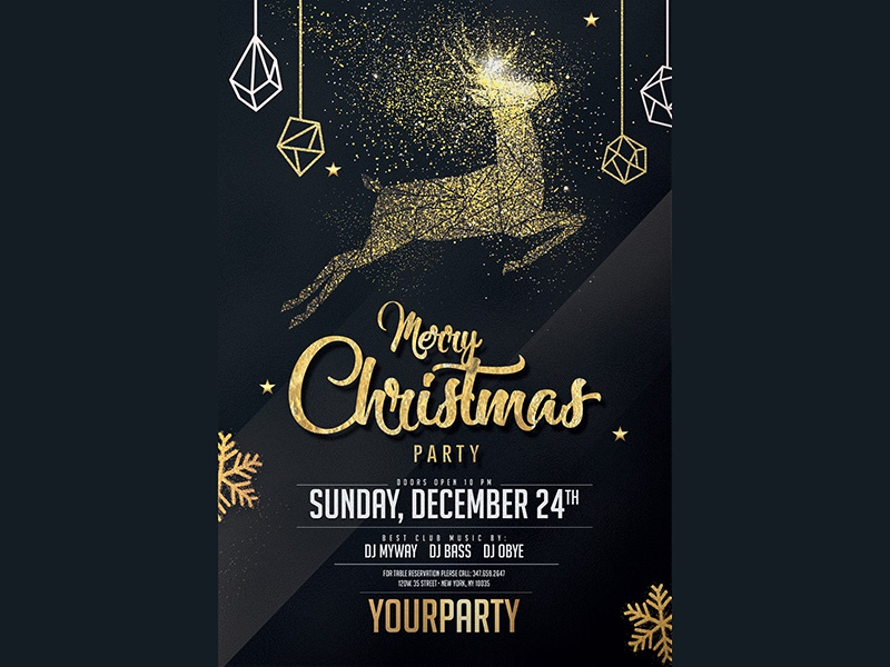 gold christmas party invitation by madridnyc dribbble dribbble