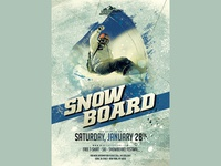 Snowboard Banner Template