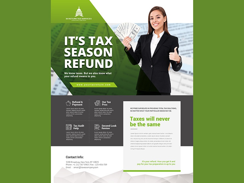 Tax Refund Flyer Payment Season Income