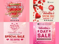 Valentine's Day Promotional Banners