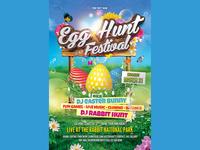 Egg Hunt Easter Festival Flyer