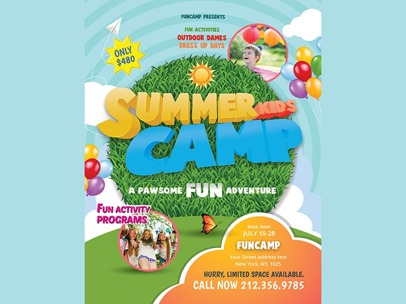 Summer Camp Flyer by MadridNYC - Dribbble