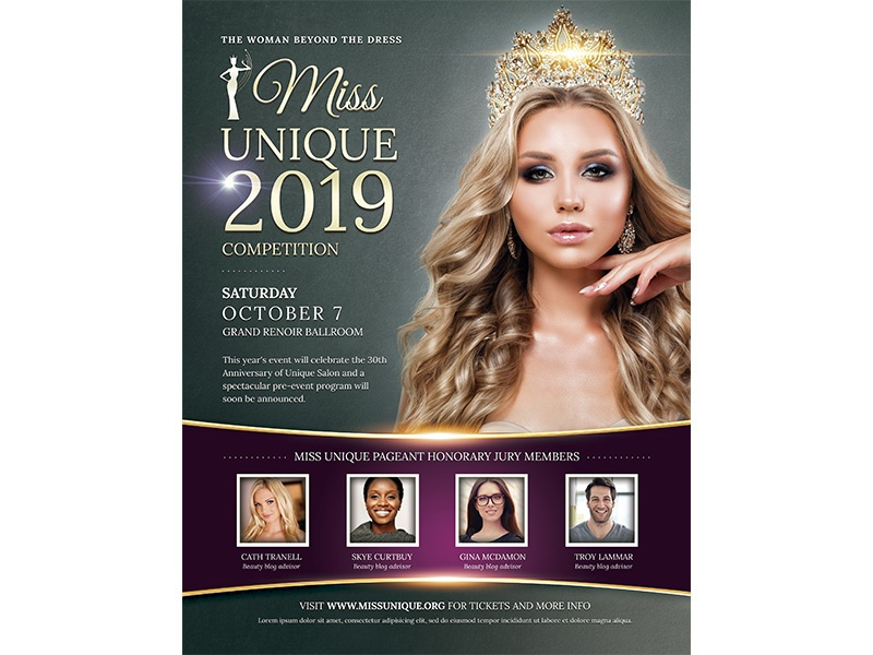 beauty contest flyer template by madridnyc dribbble dribbble