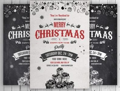 Vintage Christmas Flyer - Chalk Flyer