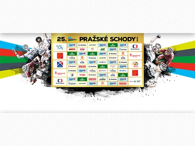 Banner 5x2,2 m - Pražské schody kulhavý sam gaze pole shurter mtb large illustrator photoshop print banner prague stairs pražské schody