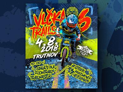 Vlčka Trails 6 - Poster 2018 print biker bike kids kid mtb poster
