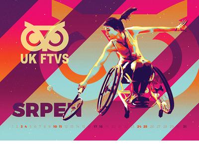 August - UK FTVS 2019 tenis girl calendar ftvs handicap sport augus
