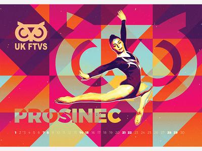 December - Calendar UK FTVS sport gymnastics oldschool vivid colors december calendar ftvs