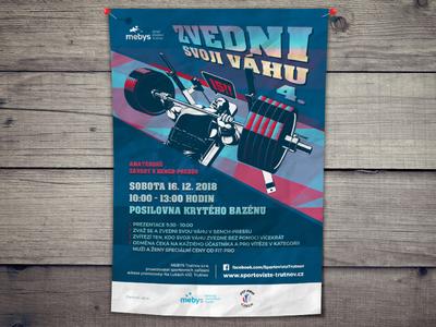 Amateur Bench-Press Contest Poster contest fitness fit benchpress bench-press poster