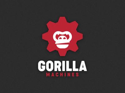 Logo Gorilla Machines tech company tech gear technical machines machine logo portrait animal gorilla