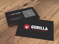 Gorilla Machines - Business Card machine gorilla print logo bcard bc business card