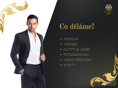 Presentation for modelling and hostess agency topmodel photo model jxk heraldic golden presentation design photogarphy model