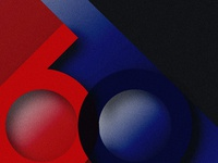 60 years anniversary czech republic red and blue numbered numbers zero six anniversary 60