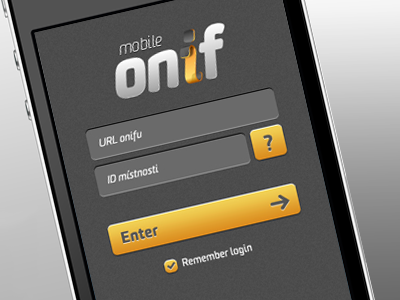 Onif Mobile - first idea onif jxk mobile gui