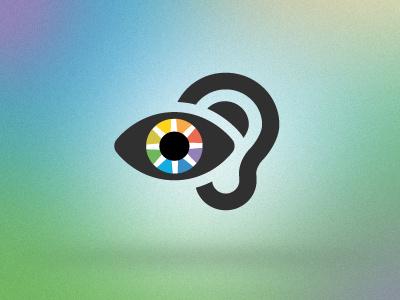 OLT logo redesign olt logo jxk deaf sign ear eye colors iris online