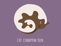 Cat Cinnamon Bun