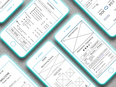 Wireframe - Travel App