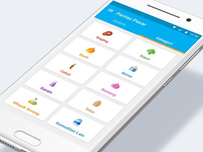 Pantau Pasar Android Mobile App Design 1/3 fruit material design app mobile user interface uidesign market price app comodities ui