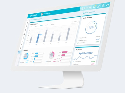 Dashboard Interface - Performance, Demographic (b2b) 2/3
