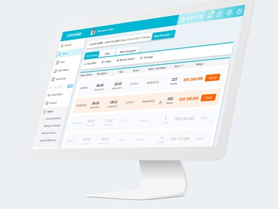Dashboard Interface - Train Booking (b2b) 3/3