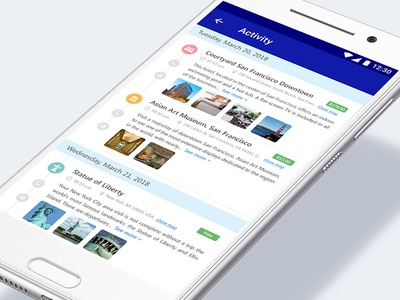 Travel Guide (Itinerary) App UI 1/3