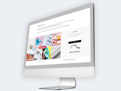 Footer Component - Blogger Template 1/3