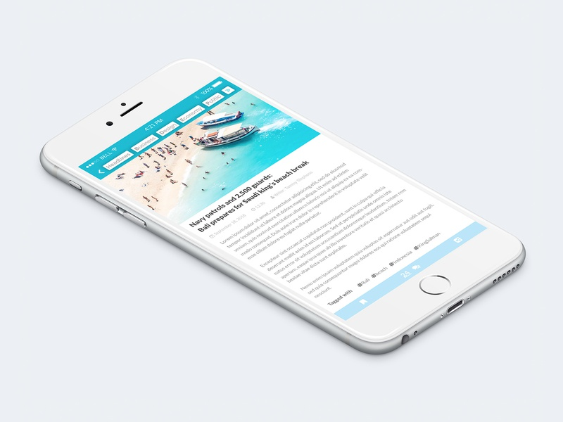 News App - Article 2/3 ui design travel ios design news app news site news feed news ux ui material design