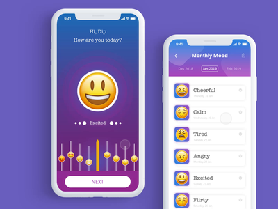 Mood App Interaction Design (IxD)