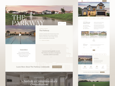Kickerillo Website webflow real estate typography white space luxury neutral cream website ui design ui