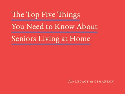 Seniors Living at Home