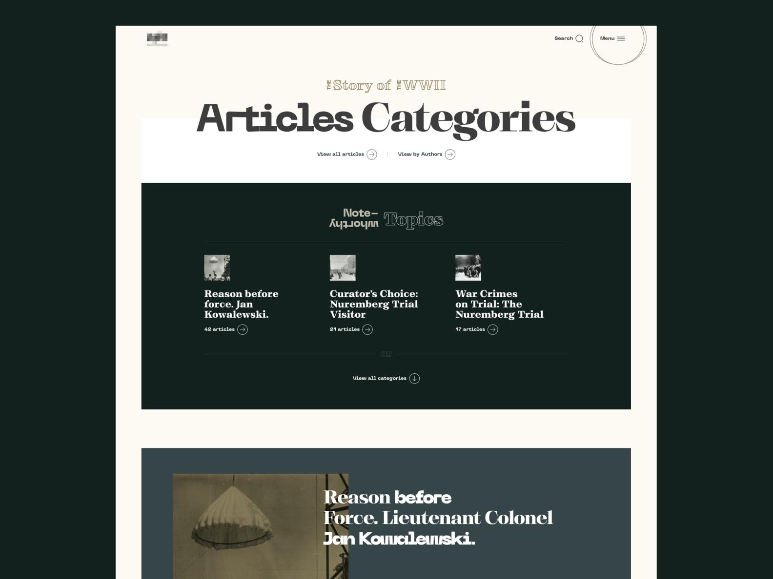 WW2 - Magazine - Typography