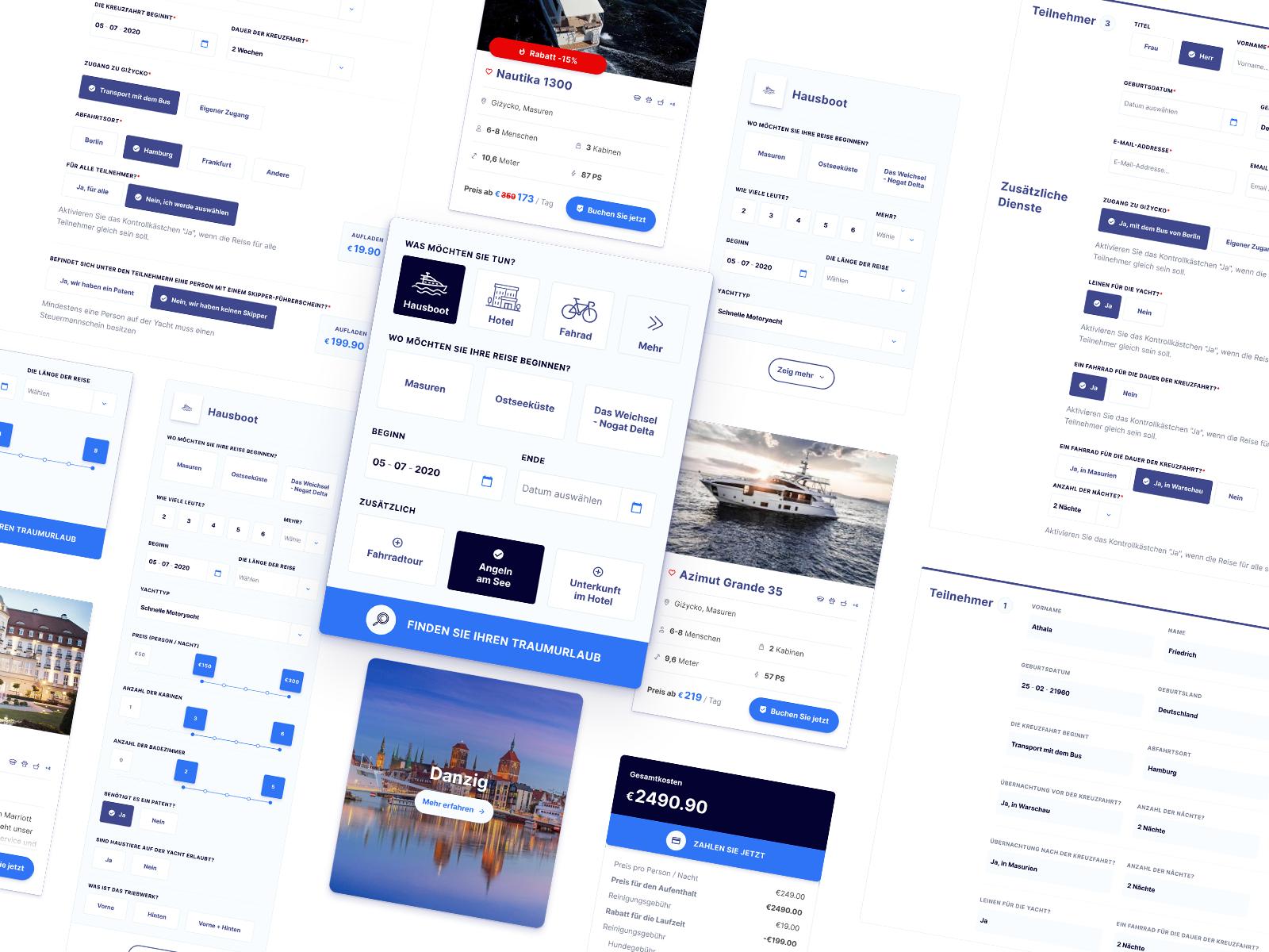 Travel/Booking UI