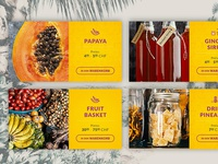 Product Cards - Fruits eShop