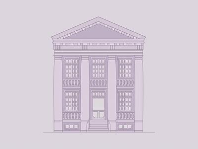 Eisenhower Institute wip usa eisenhower building line vector illustration