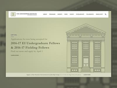 Eisenhower Institute wip pitch education usa hero illustration webpage web