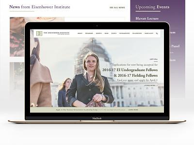 Eisenhower Institute - alternative proposal wip webpage web usa pitch illustration hero education