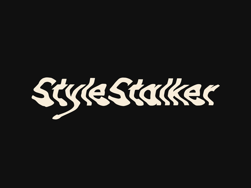 Sssssstalker glitch wordmark type experiment typography