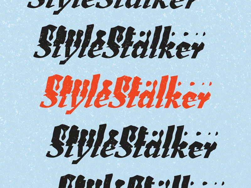 Style Stalker treatment scanned wordmark typography type glitch experiment