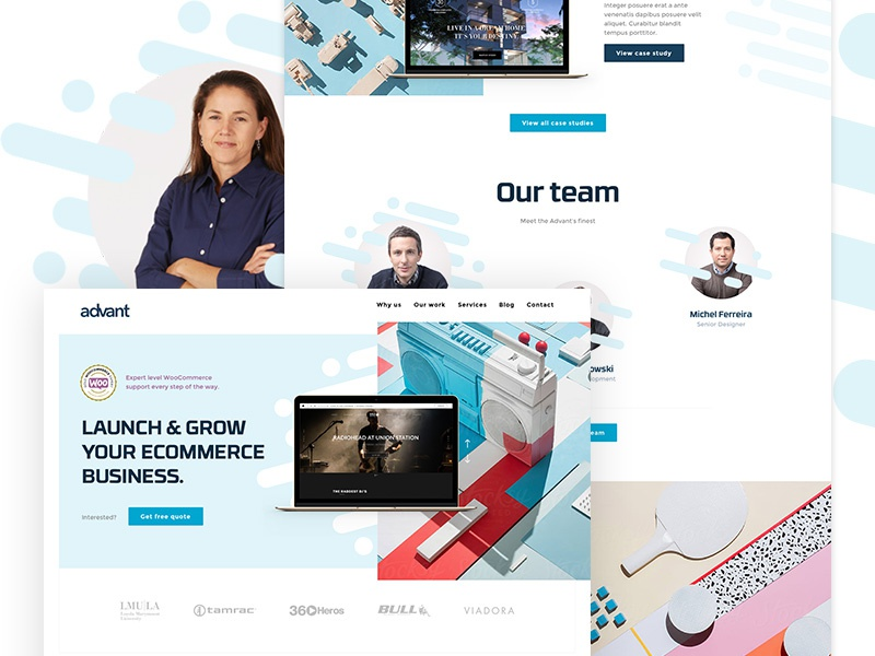 Agency Website advant team ui concept woocommerce us website web agency