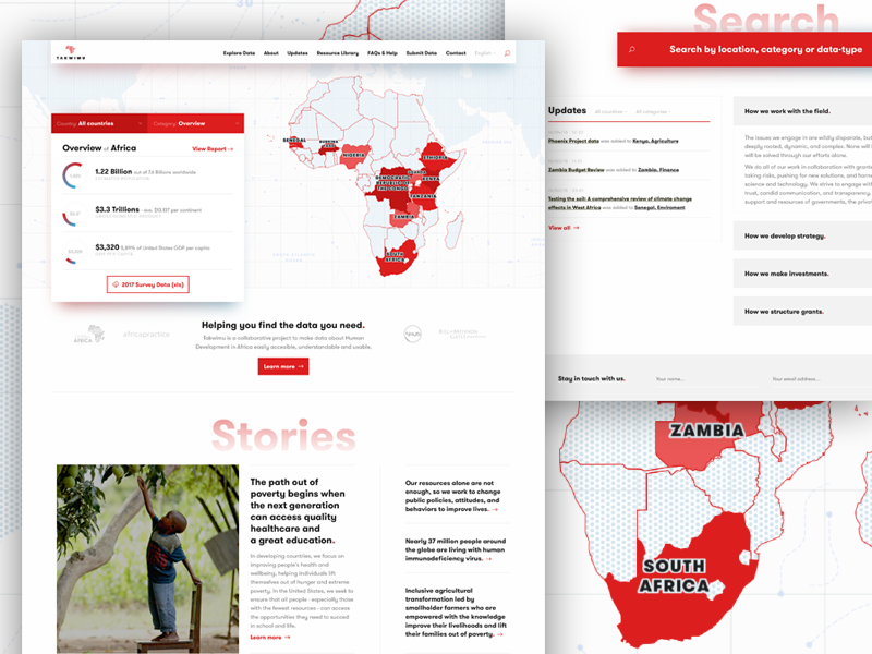 Takwimu - design explorations 2 visualization web ui takwimu statistics stats map mapbox data africa