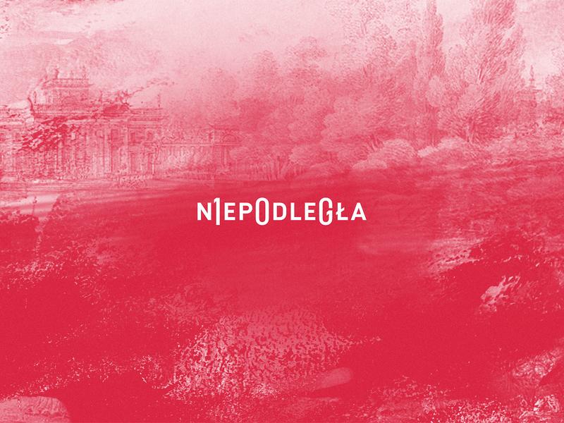 Niepodległa sign logo typography niepodległość independence polska poland