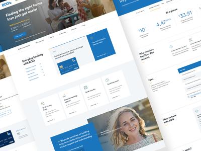 Bank of Queensland Website Design