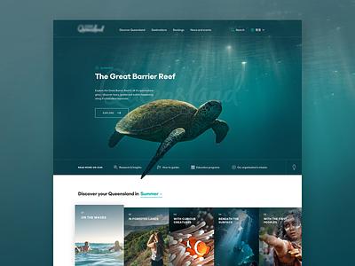 The Queenslander Experience Conceptual Design sketchapp photoshop branding typography website web design ux ui