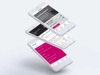 icare NSW Mobile First Design