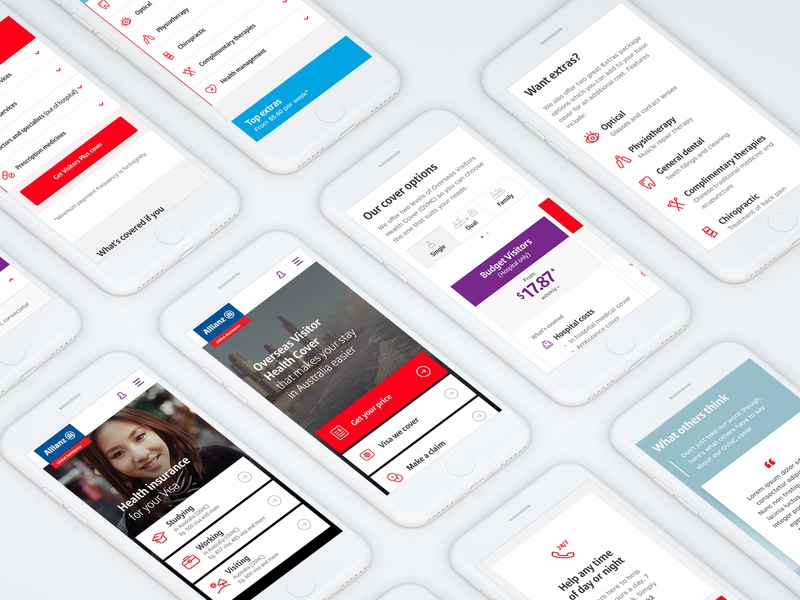 Allianz Global Assistance International Health (Mobile) branding vector iconography icon typography app minimal identity flat clean photoshop mobile website web ux ui design