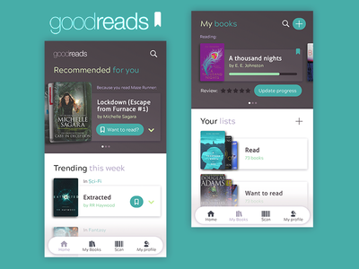 Goodreads app redesign goodreads redesign books ux ui mobile app