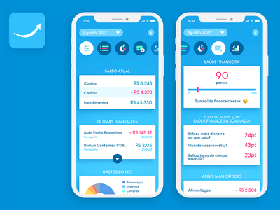 Guia Bolso - app redesign account ux ui mobile ios redesign app banking
