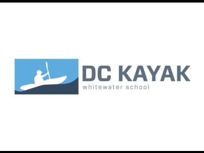 DC Kayak Whitewater School Logo flat washington nba school whitewater kayak logo branding